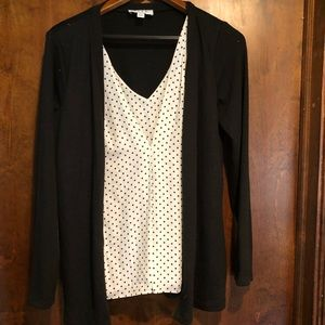 ELLE Professional top with attached sweater